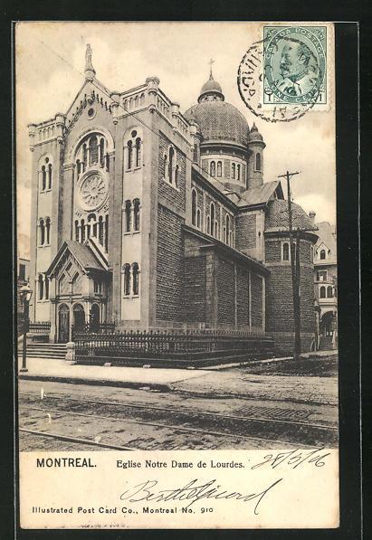 AK Montreal, Eglise Notre Dame de Lourdes