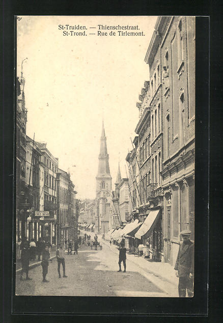 AK St-Truiden / St-Trond, Thienschestraat, Rue de Tirlemont, Strassenpartie