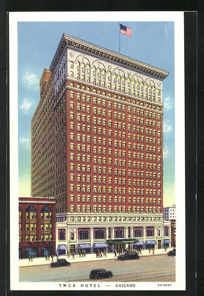 AK Chicago, IL, YMCA Hotel, 826 South Wabash, Located in Downtown