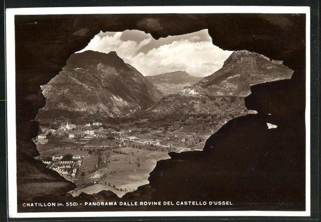 AK Chatillon, Panorama dalle Rovine del Castello d`Ussel