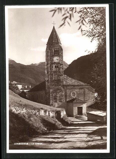 AK Courmayeur, La Chiesa, Ansicht der Kirche