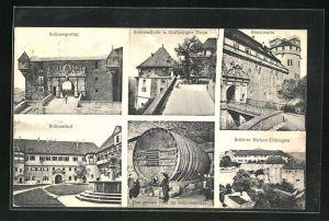AK Tübingen, Schloss Hohen-Tübingen, Schlosshof, Schlossportal