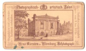 Fotografie Arno Kersten, Altenburg, rückseitige Ansicht Altenburg, Phot. Salon, vorderseitig Portrait Familie