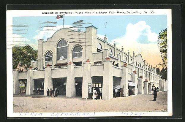 AK Wheeling, WV, West Virginia State Fair Park, Exposition Building, Ausstellung