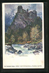 Künstler-AK Franz Kopallik: Burg Gallenstein, Steiermark