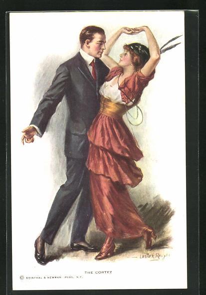 Künstler-AK Lester Ralph: The Cortez, Liebespaar beim Tanz