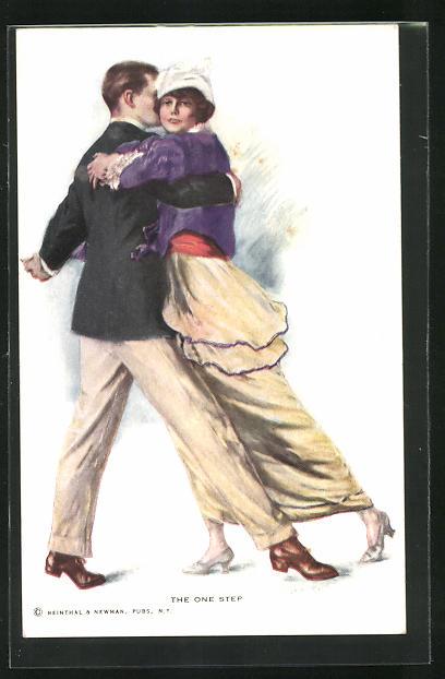 Künstler-AK Lester Ralph: The one Step, Liebespaar beim Tanz