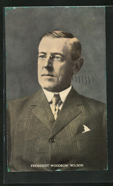 AK President Woodrow Wilson, Präsident der USA