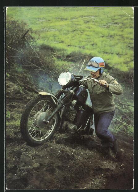 AK Motorradmehrkämpfer der GST mit MZ - TS 150