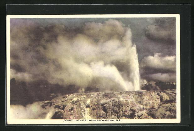 AK Whakarewarewa, ausbrechender Pohutu Geysir