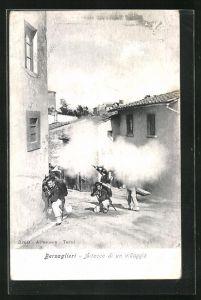 AK Berdaglieri, Aitacco di un villaggio, italienische Infanteristen beim Strassenkampf