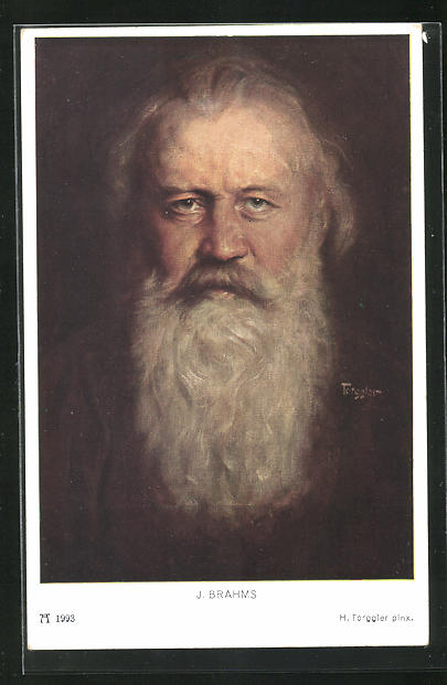 Künstler-AK Hermann Torggler: J. Brahms im Porträt