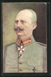 AK Portrait Generalleutnant Erich von Ludendorff in Uniform