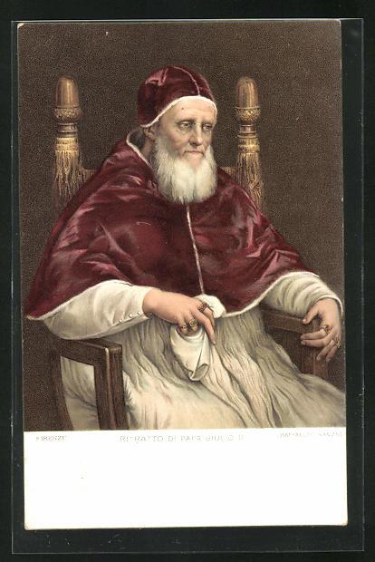 Künstler-Lithographie Raffaelo Sanzio: Papa Giulio II., Papst