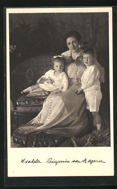 AK Isabelle, Prinzessin von Bayern mit Kindern