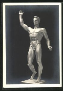 Künstler-AK Arno Breker: Der Künder, Figur, männlicher Akt