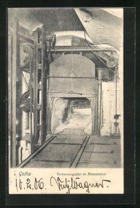 AK Gotha, Verbrennungsofen im Krematorium