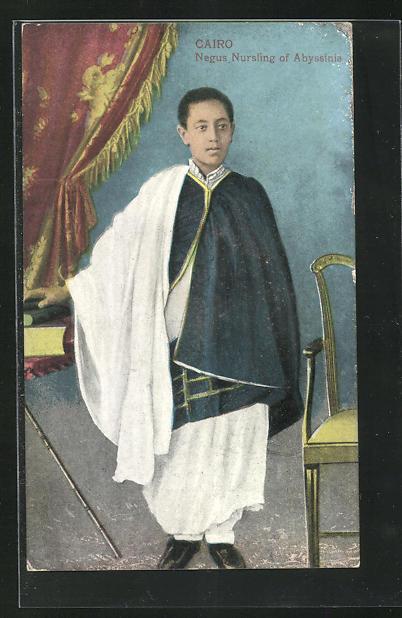 AK Cairo, Negus Nursling of Abyssinia, abyssinischer Adliger