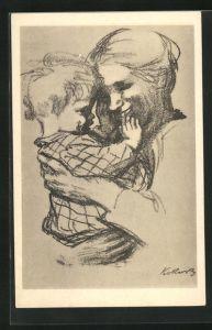 Künstler-AK Käthe Kollwitz: Mutter und Kind