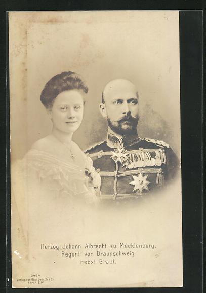 AK Herzog Johann Albrecht zu Mecklenburg, Regent von Braunschweig nebst Braut