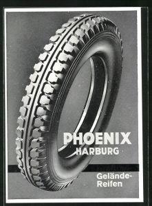 AK Reklame für Geländereifen Phoenix Harburg
