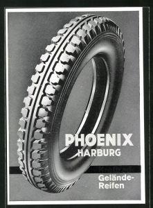 AK Reklame für den Geländereifen Phoenix Harburg