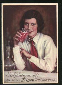AK Reklame für Frigeo-Trinktabletten