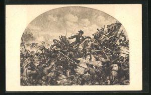 Künstler-AK H. Knackfuss: Schlacht bei Turin 1706