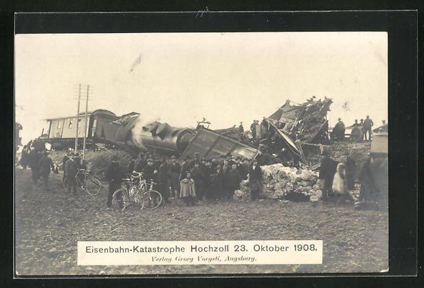 AK Hochzoll, Eisenbahn-Katastrophe 23. Oktober 1908