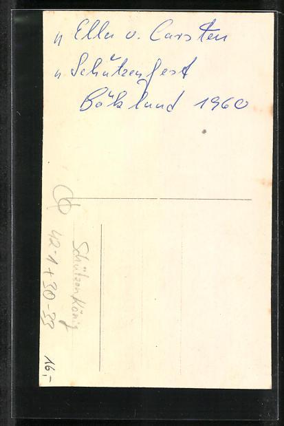 AK Böklund, Jugend-Schützenkönig und Königin 1960 1