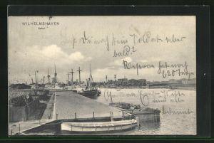 AK Wilhelmshaven, Blick auf den Hafen