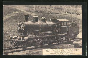 AK Schweizer Kleinbahn-Lokomotive von E. Golliez, Lausanne