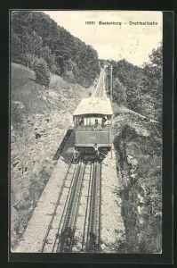 AK Beatenberg, Bergbahn bei der Abfahrt