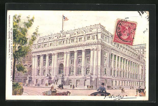 AK New York, NY, New U. S. Custom House, Bowling Green