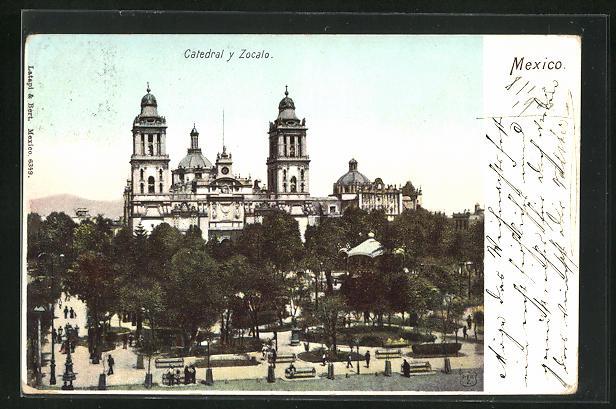 AK Mexiko-Stadt, Catedral y Zocalo