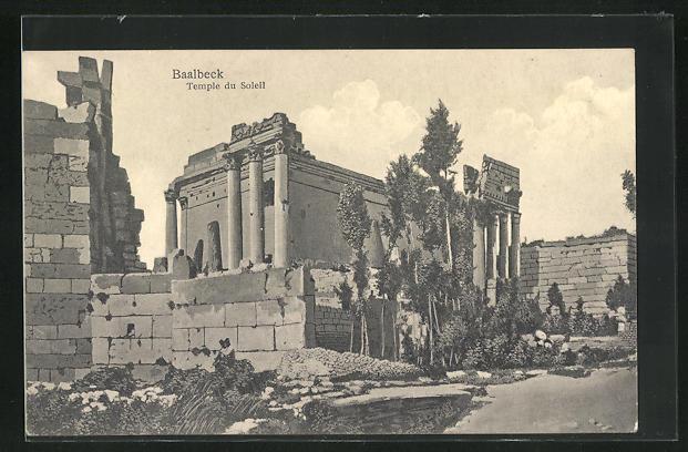 AK Baalbek / Baalbeck, Sonnentempel / Temple du Soleil