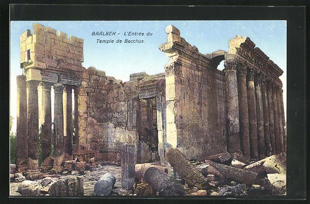 AK Baalbek, L`Entrée du Temple de Bacchus