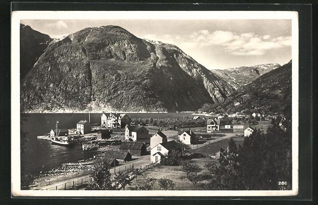 AK Eidfjord-Vik, Ortsansicht