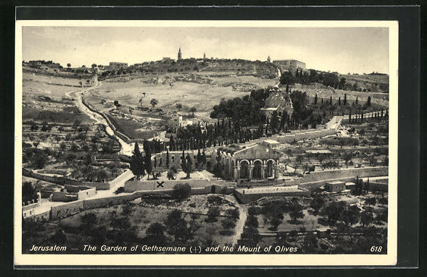 AK Jerusalem, The Garden of Gethsemane and the Mount of Olives