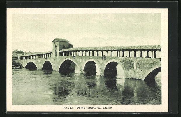 AK Pavia, Ponte coperto sul Ticino