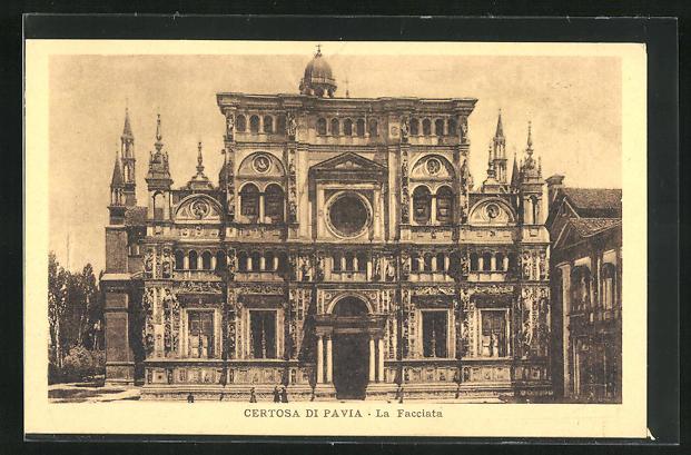 AK Certosa di Pavia, La Facciata