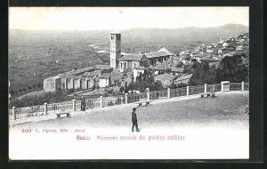 AK Assisi, Panorama parziale dal giardino pubblico