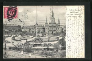 AK New Orleans, LA, Jackson Square, Cabildo and St. Louis Cathedral