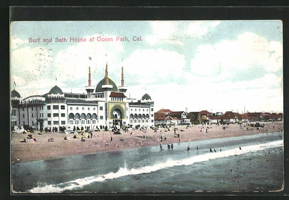 AK Los Angeles, CA, Surf and Bath House at Ocean Park