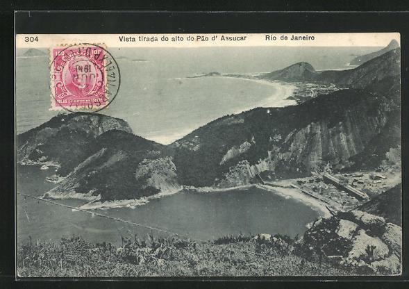 AK Rio de Janeiro, Vista tirada do alto do Pao d'Assucar