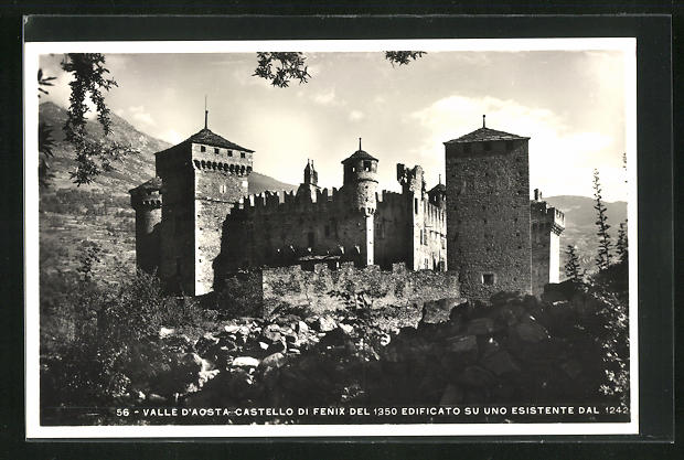 AK Valle D'Aosta, Castello di Fenix del 1350 Edificato su uno Esistente Dal