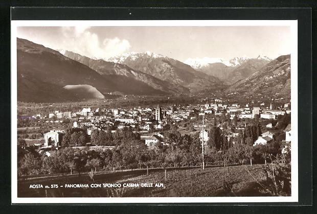 AK Aosta, Panorama con Spondo Catena delle Alpi