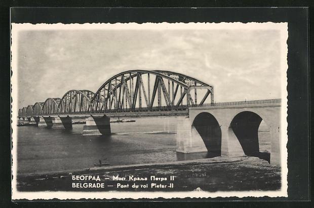 AK Belgrade / Belgrad, Pont du Roi Pietar II. 0