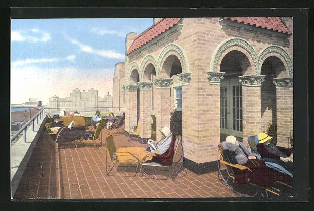 AK Atlantic City, NJ, The Senator Hotel, Ocean End South Carolina Avenue, Ocean Deck, one of three roof decks