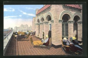 AK Atlantic City, NJ, The Senator Hotel, Ocean End South Carolina Avenue, Ocean Deck ... one of three roof decks